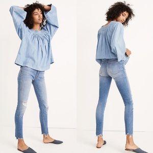 "NWT Madewell Petite 9"" Mid-Rise Skinny Jeans, 23P"